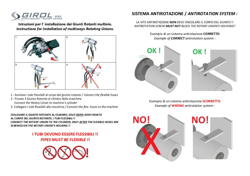 Instrukcja montażu złącz Girol